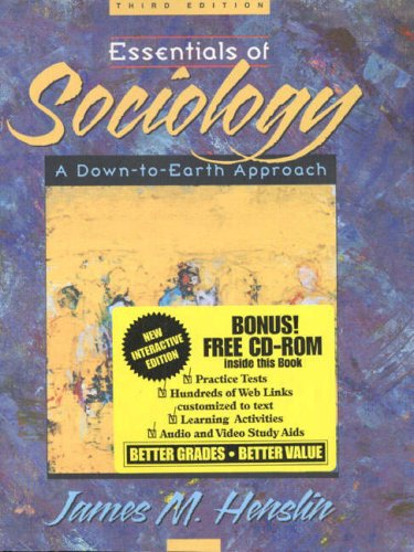 9780205316908: Essentials of Sociology: A Down-To-Earth Approach
