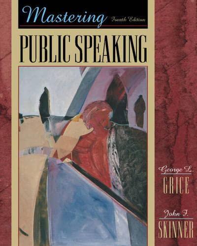 9780205318087: Mastering Public Speaking, Fourth Edition
