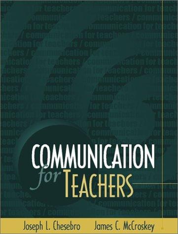 9780205318872: Communication for Teachers