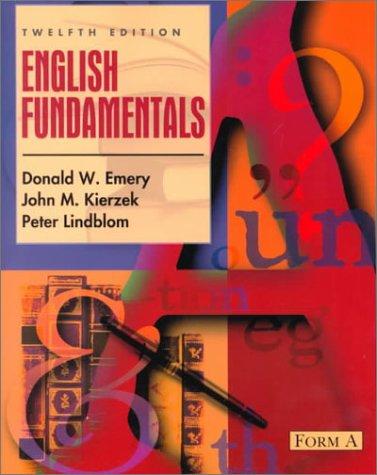 9780205322398: English Fundamentals: Form A (12th Edition)
