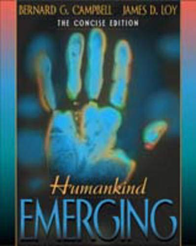 9780205325092: Humankind Emerging, The Concise Edition