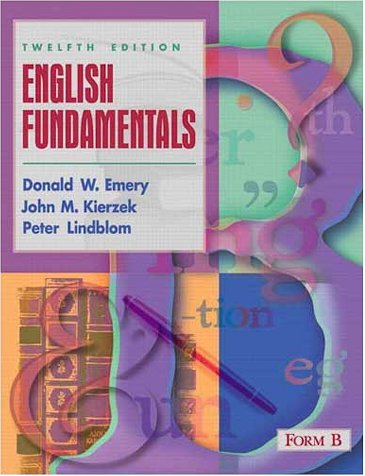 9780205329724: English Fundamentals: Form B (12th Edition)