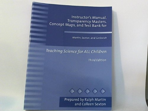 Instructor's Manual, Transparency Masters, Concept Maps, and: Ralph Martin, Colleen
