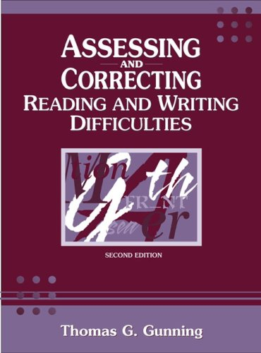9780205332557: Assessing and Correcting Reading and Writing Difficulties (2nd Edition)