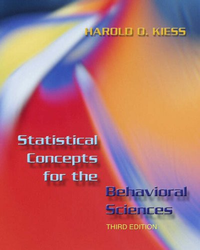Statistical Concepts for the Behavioral Sciences (3rd: Harold O. Kiess