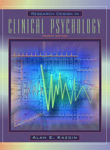 9780205332922: Research Design in Clinical Psychology