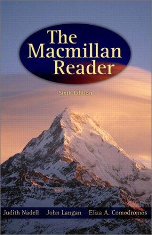 9780205334636: The MacMillan Reader