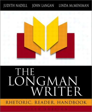 9780205334643: The Longman Writer: Rhetoric, Reader, Handbook (5th Edition)