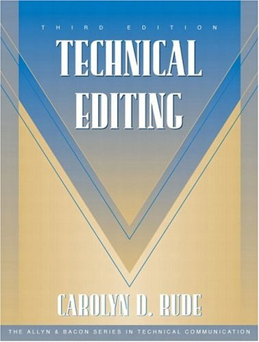 9780205335565: Technical Editing (3rd Edition)