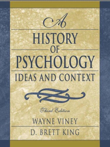9780205335824: A History of Psychology: Ideas and Context (3rd Edition)