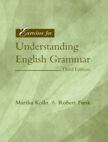 9780205336289: Exercises for Understanding English Grammar