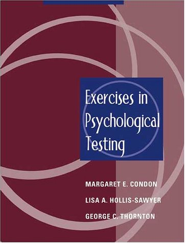 9780205337873: Exercises in Psychological Testing