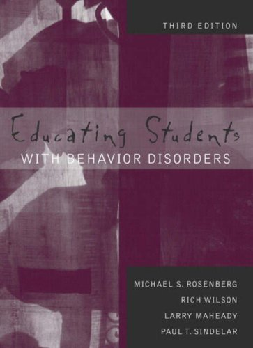 9780205340750: Educating Students with Behavior Disorders (3rd Edition)