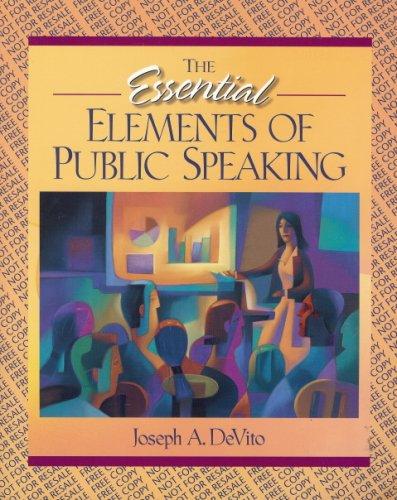 9780205341795: The Essential Elements of Public Speaking