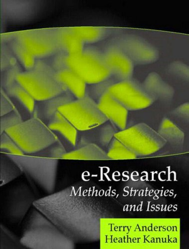9780205343829: E-Research: Methods, Strategies, and Issues