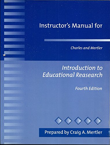 9780205347629: Introduction to Educational Research: Instructor's Manual
