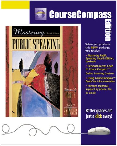9780205348053: Mastering Public Speaking (CourseCompass Edition) (4th Edition)