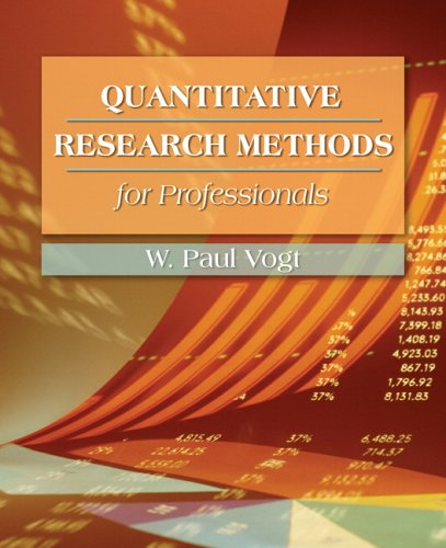 9780205359134: Quantitative Research Methods for Professionals