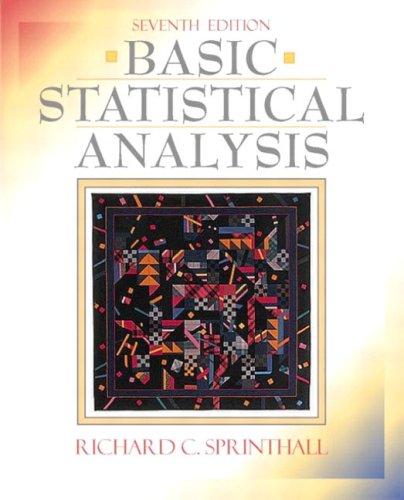 9780205360666: Basic Statistical Analysis (7th Edition)