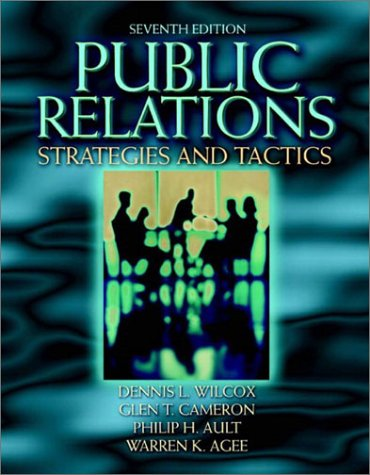 9780205360734: Public Relations: Strategies and Tactics (7th Edition)