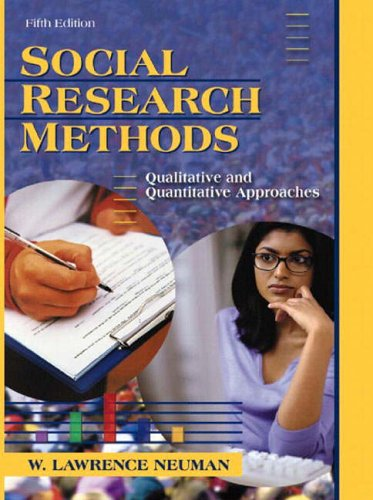 9780205374076: Social Research Methods: Qualitative and Quantitative Approaches (International Edition)