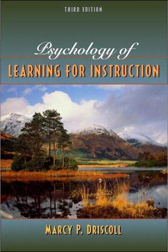 9780205375196 Psychology Of Learning For Instruction 3rd Edition