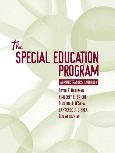 9780205376735: Special Education Program Administrator's Handbook