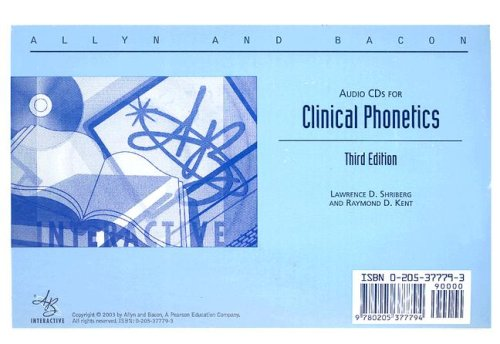 9780205377794: Clinical Phonetics