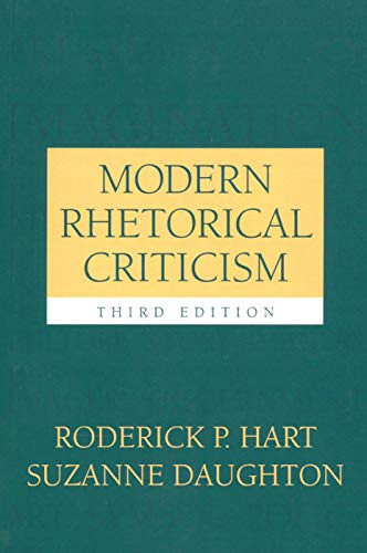 9780205377992: Modern Rhetorical Criticism