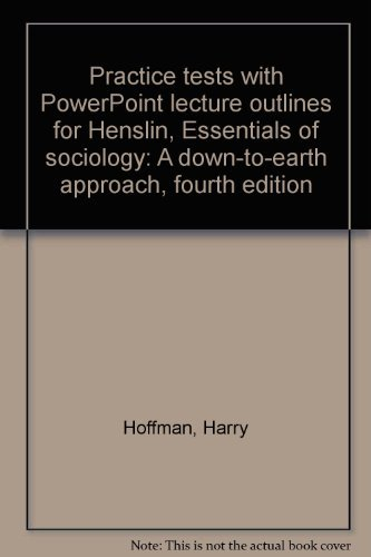 Practice Tests with PowerPoint Lecture Outlines (Valuepack: James M. Henslin