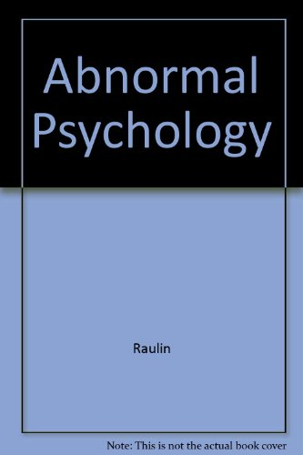 9780205379927: Test Bank for Raulin Abnormal Psychology