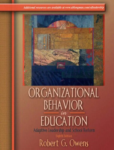 9780205380855: Organizational Behavior in Education: Adaptive Leadership and School Reform, Eighth Edition