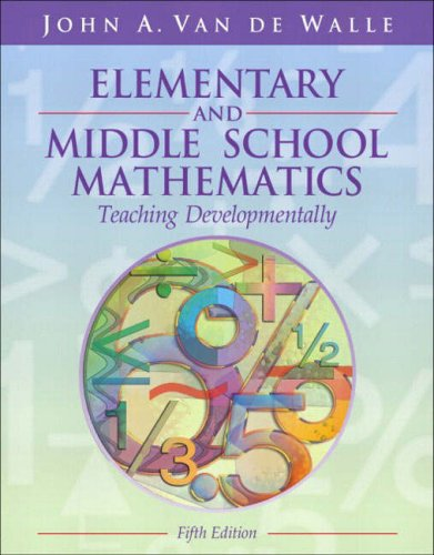 9780205386895: Elementary and Middle School Mathematics: Teaching Developmentally, Fifth Edition