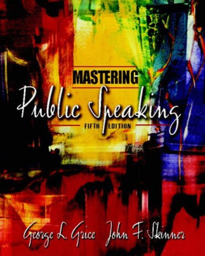 9780205388820: Mastering Public Speaking, Fifth Edition