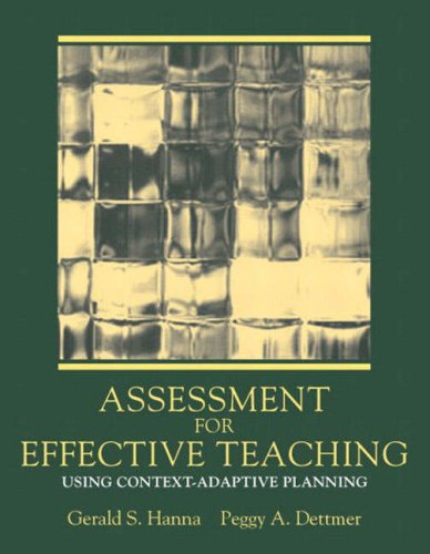 9780205389414: Assessment for Effective Teaching: Using Context-Adaptive Planning