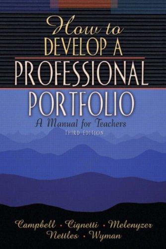 9780205393411: How to Develop a Professional Portfolio: A Manual for Teachers, Third Edition