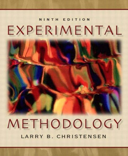 9780205393695: Experimental Methodology