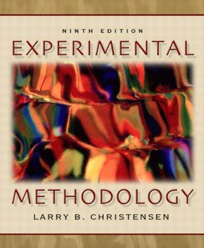 9780205393695: Experimental Methodology