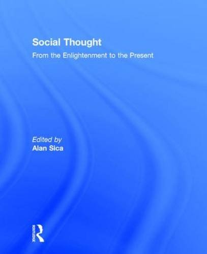 9780205394371: Social Thought: From the Enlightenment to the Present