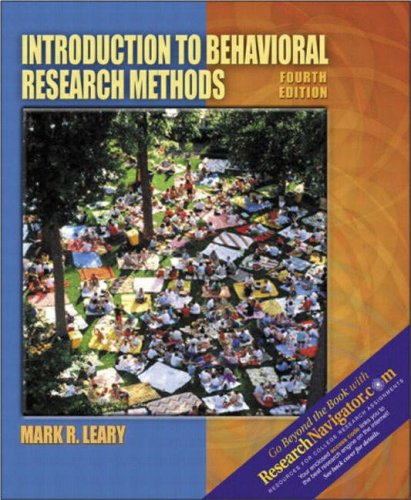 9780205396764: Introduction to Behavioral Research Methods (with Research Navigator) (4th Edition)