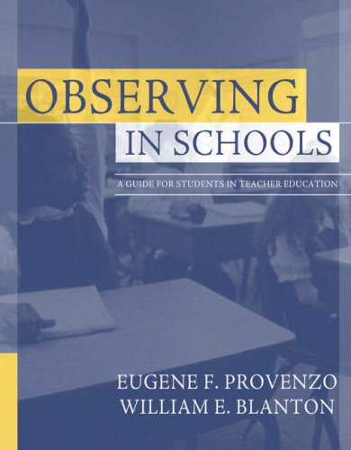9780205401406: Observing in Schools: A Guide for Students in Teacher Education