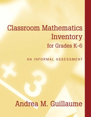 9780205402649: Classroom Mathematics Inventory for Grades K-6: An Informal Assessment