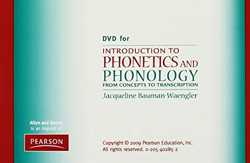9780205402854: DVD for Introduction to Phonetics and Phonology: From Concepts to Transcription