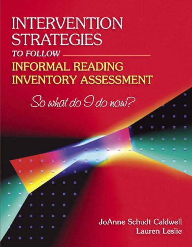 9780205405589: Intervention Strategies to Follow Informal Reading Inventory Assessment: So What Do I Do Now?