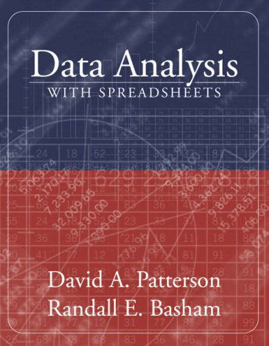 Data Analysis with Spreadsheets (with CD-ROM) (020540751X) by David A. Patterson; Randall E. Basham