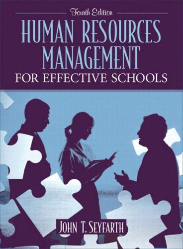 9780205412761: Human Resources Management for Effective Schools (4th Edition)