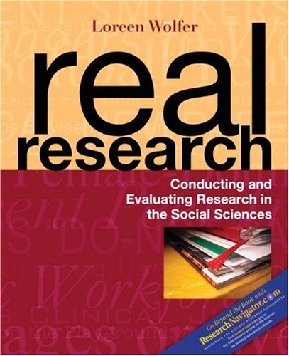 9780205416622: Real Research: Conducting and Evaluating Research in the Social Sciences