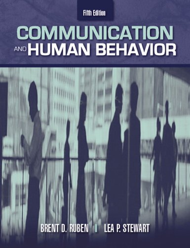 9780205417902: Communication and Human Behavior (5th Edition)