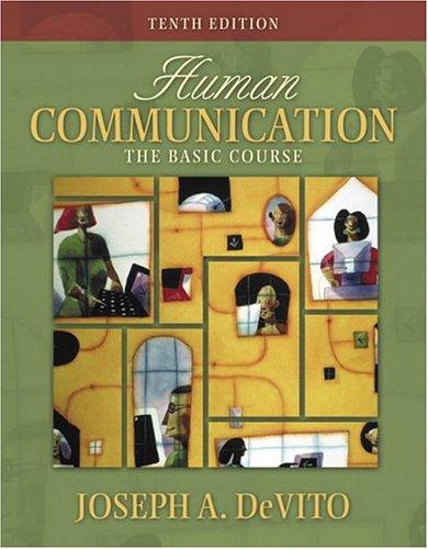 9780205428496: Human Communication: The Basic Course (10th Edition) (MySpeechLab Series)