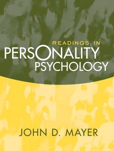 Readings in Personality Psychology: John D. Mayer